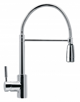 Enzo - Silver kitchen faucet with shower