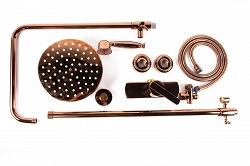 Alessandra - pink gold retro shower faucet